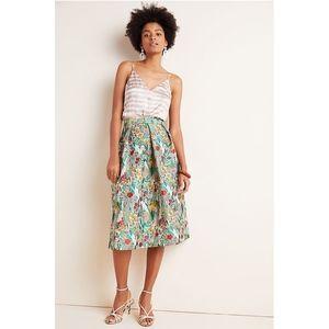 Eva Franco Lucia Jacquard Midi Skirt